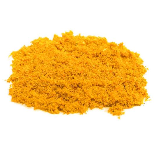 Curry Wurst Gewürzmischung, mittel-scharf, gelb-orange, Pulver