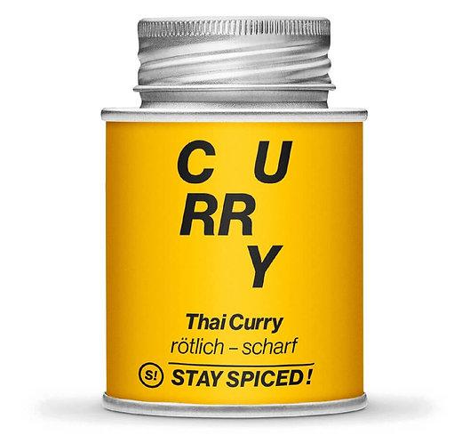 Thai Curry, rötlich-scharf, Currymischung, rot, Pulver, Schraubdose, Vorderansicht