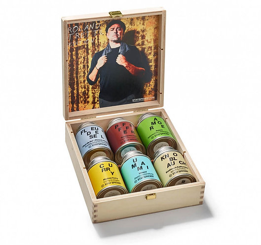Holzbox - Limited Edition - Roland Trettl's 6 Lieblingsprodukte, Gewürze, Innenansicht