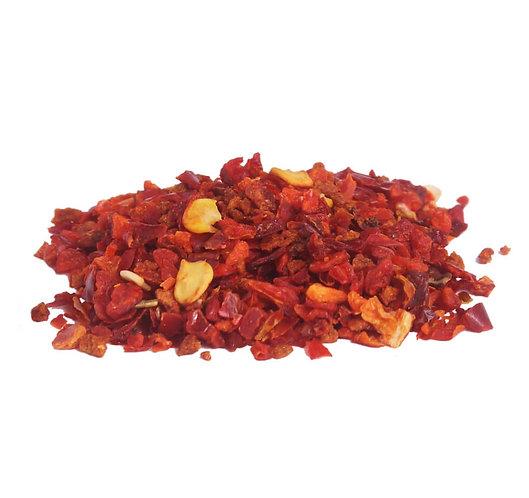 Paprikaflocken, rot, fein-geschnitten 3x3mm, getrocknet