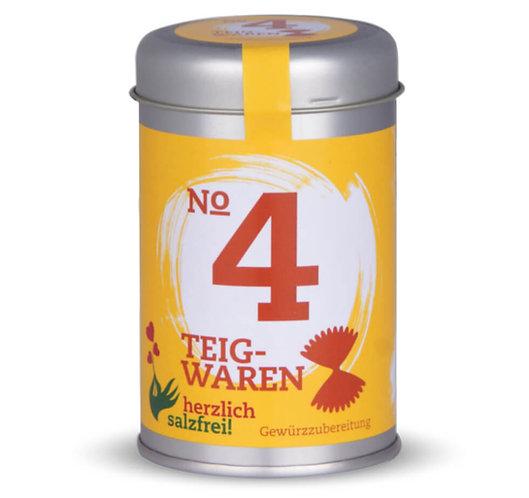herzlich salzfrei, Nr.4 Teigwaren, Gewürze ohne Salz, Streudose - 55g