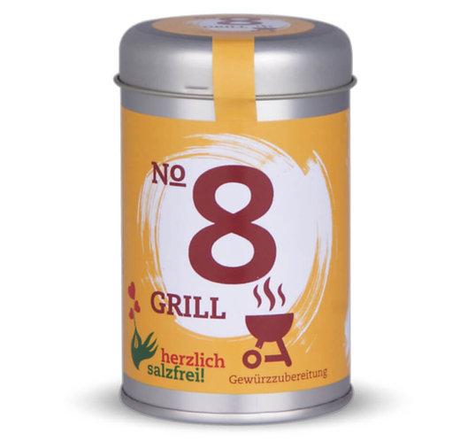 herzlich salzfrei, Nr. 8 Grill, Gewürze ohne Salz, Streudose - 90g