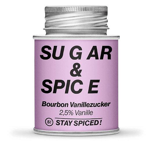Bourbon Vanille Zucker, 2.5% Vanille, Schraubdose
