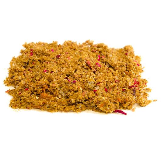 Liebescurry Marrakesch, erotisch fruchtige Currymischung, gelb-braun, Pulver