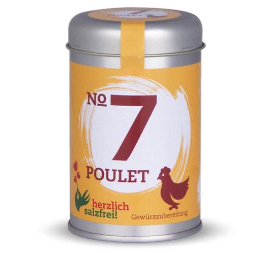 herzlich salzfrei, Nr. 7 Poulet, Gewürze ohne Salz,  Streudose - 90g