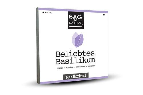 Beliebtes Basilikum - Bio Kräuter Bag, Vorderansicht