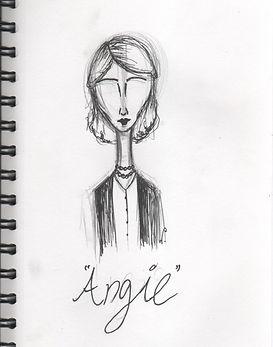 Un esbós del personatge Angie