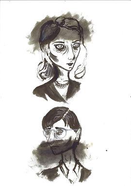 Esbós en tinta d'Angie i Viktor