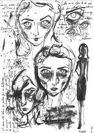 Esbossos del rostre d'Angie