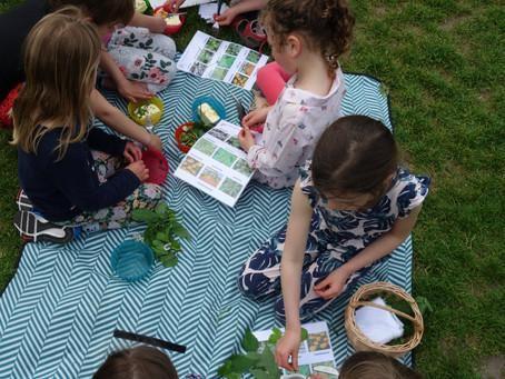 Kinderfeestje in het park