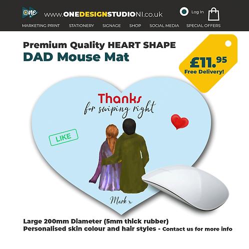 Heart Shape Tinder Mouse Mat