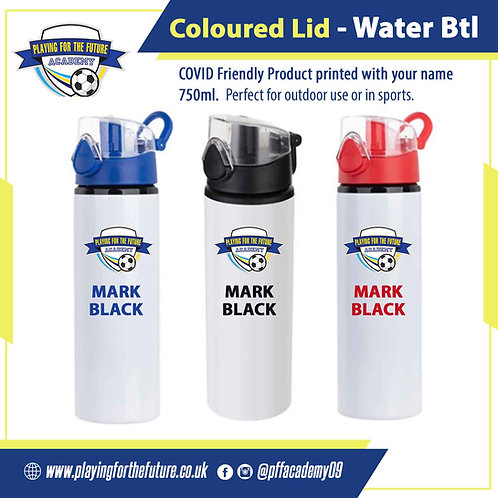 Coloured Lid Water Bottle