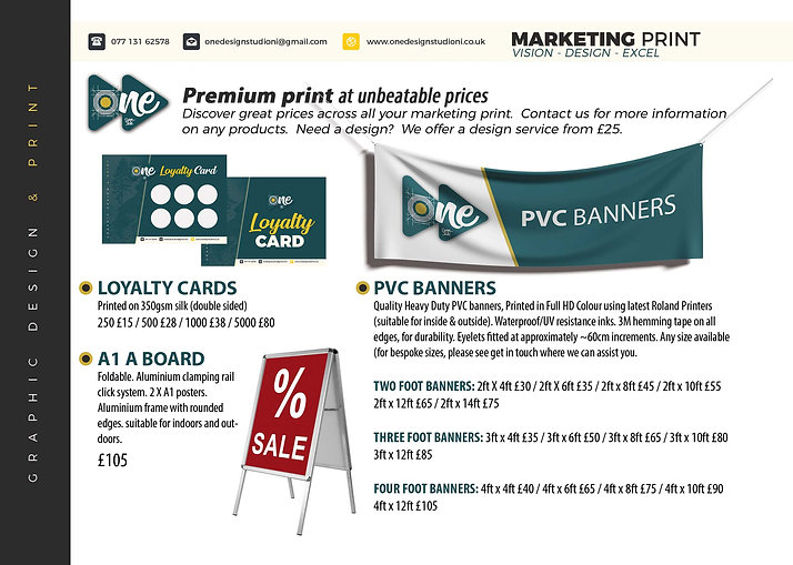 Marketing print banners