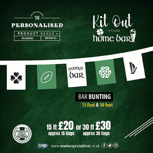 Personalised Bar Bunting