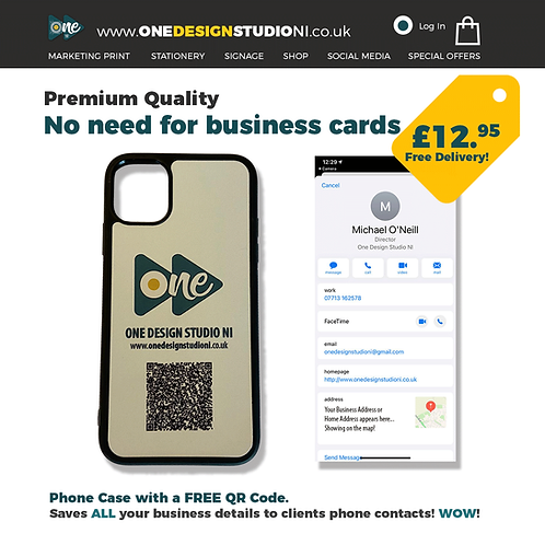 Branded iPhone Case with FREE QR Code!
