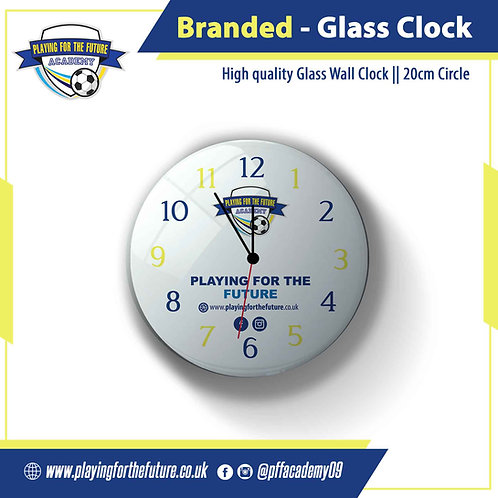 Branded Glass Wall Clock