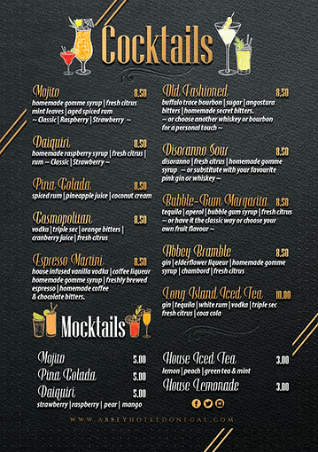 Graphic-Design-Abbey-Hotel-Ccoktail-menu
