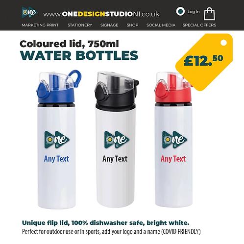 Coloured Lid Water Bottles