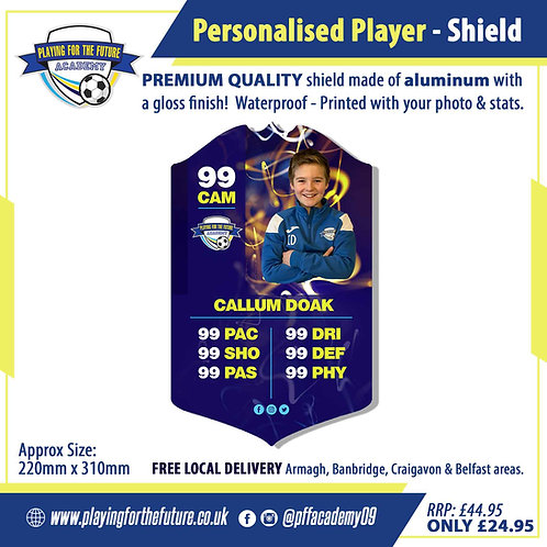 Personalised Player Shield