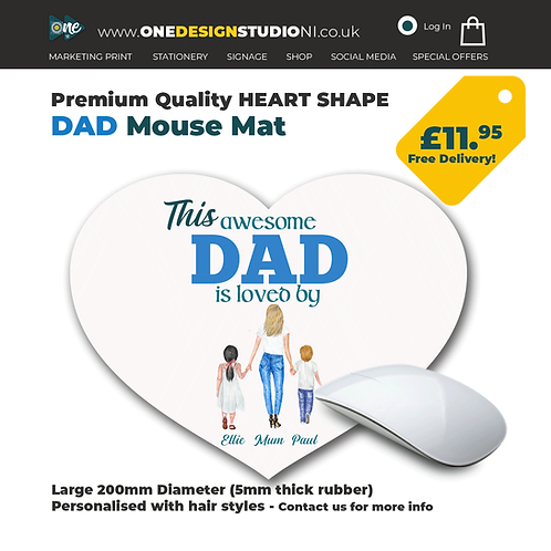 Heart Shape Mouse Mat for DAD