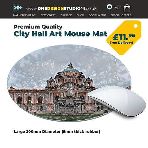 City Hall Art Mouse Mat