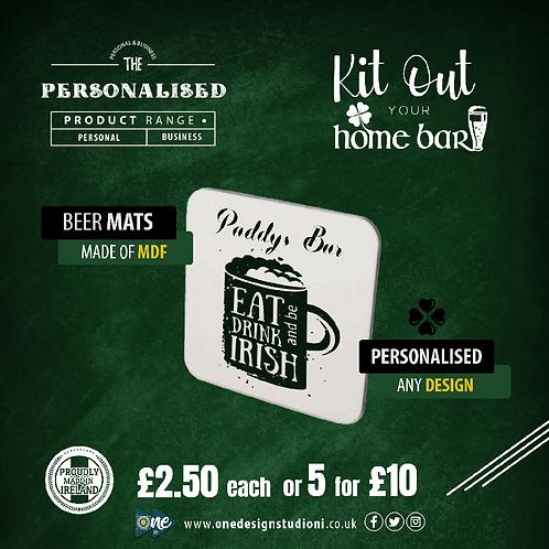 Personalised MDF Beer Mats