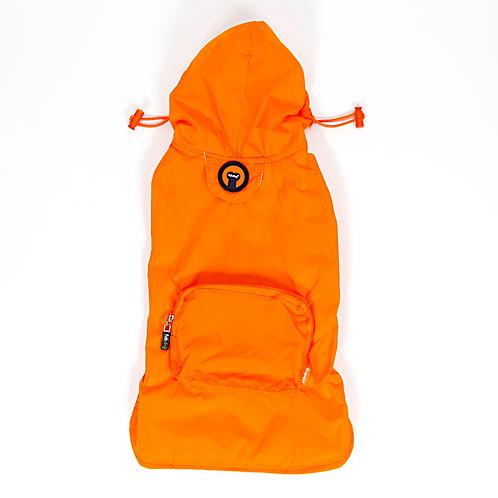 Orange Pocket Fold Up Raincoat