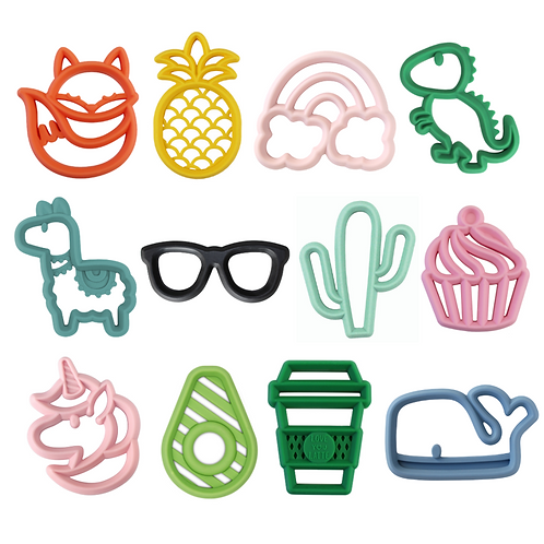 [Itzy Ritzy] Chew Crew™ Silicone Baby Teethers