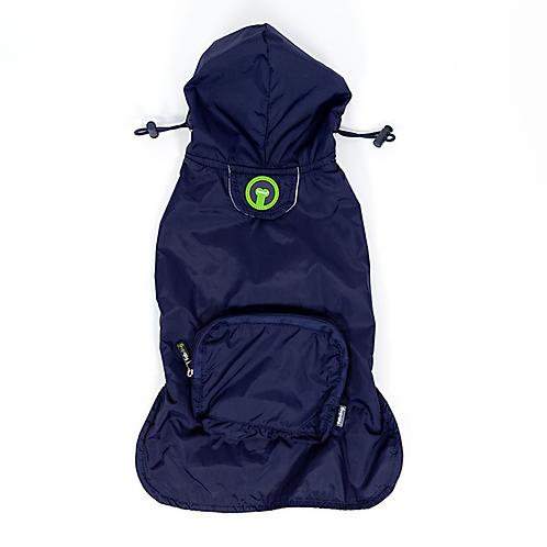 Navy Pocket Fold Up Raincoat