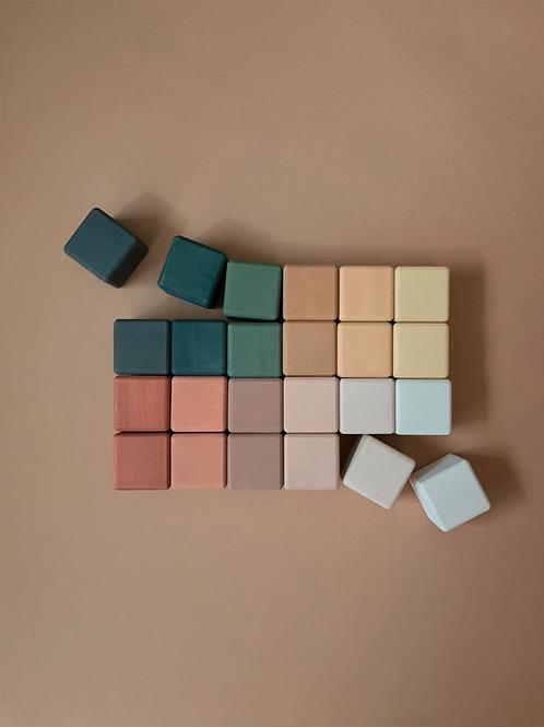 [사보] 원목 큐브 / 그린