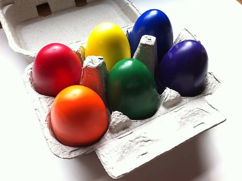 Set Of 6 Egg Crayons