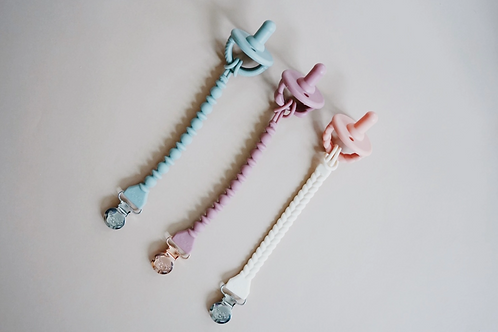 [Itzy Ritzy] Sweetie Strap™ Silicone One-Piece Pacifier Clips