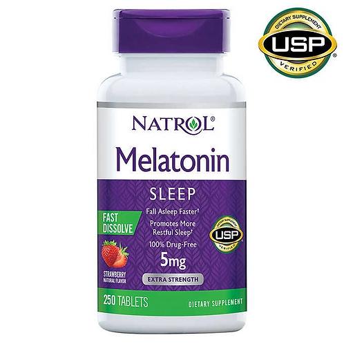 [나트롤] 멜라토닌 5mg 250정 대용량