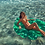 Thumbnail: [Sunny Life] Luxe Lie-On pool Float Monstera Leaf