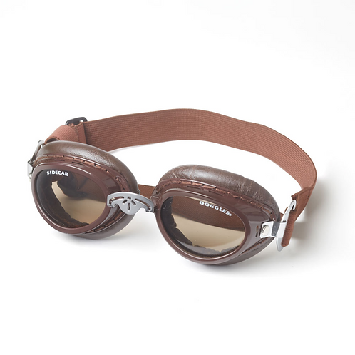 Brown Sidecar Doggles