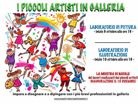 Piccoli artisti in galleria