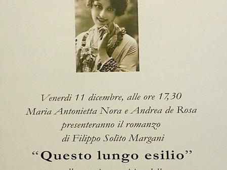 Presentazione in galleria del libro di Filippo Solìto Margani