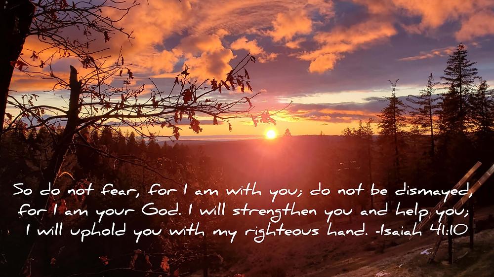 beautiful sunset isaiah 41:40