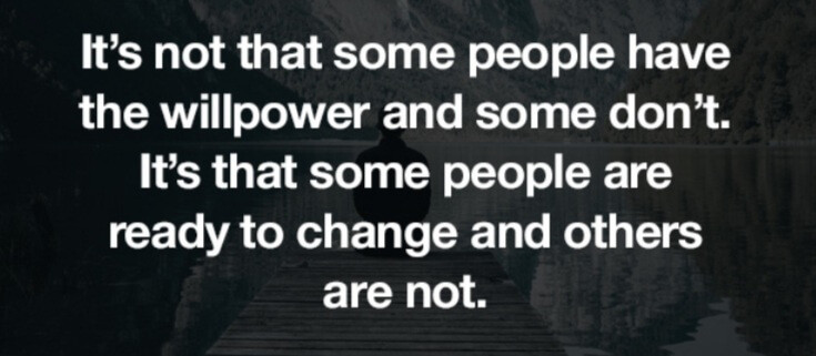 Willpower when people change