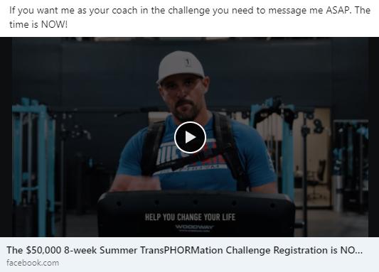 New Fitness Challenge starts NOW