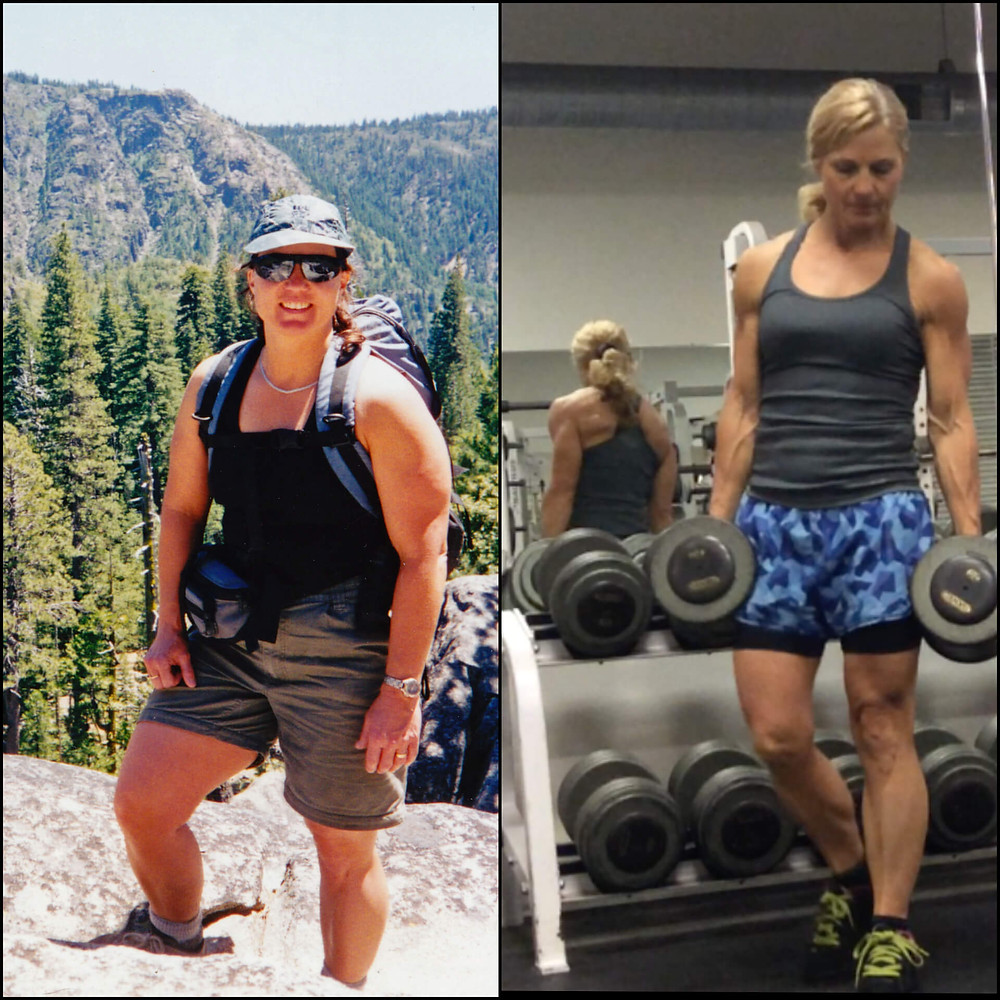 mid life female weight loss transformation