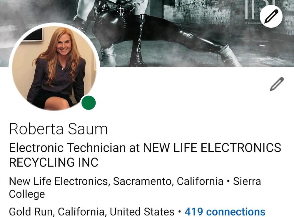 Roberta Saum LinkedIn Profile Picture Screen