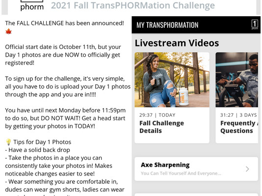 $50k transformation challenge is NOW