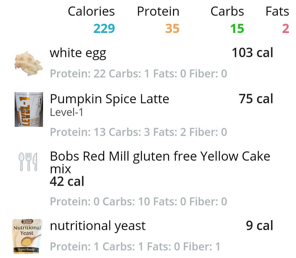 Macros for pumpkin spice egg bites