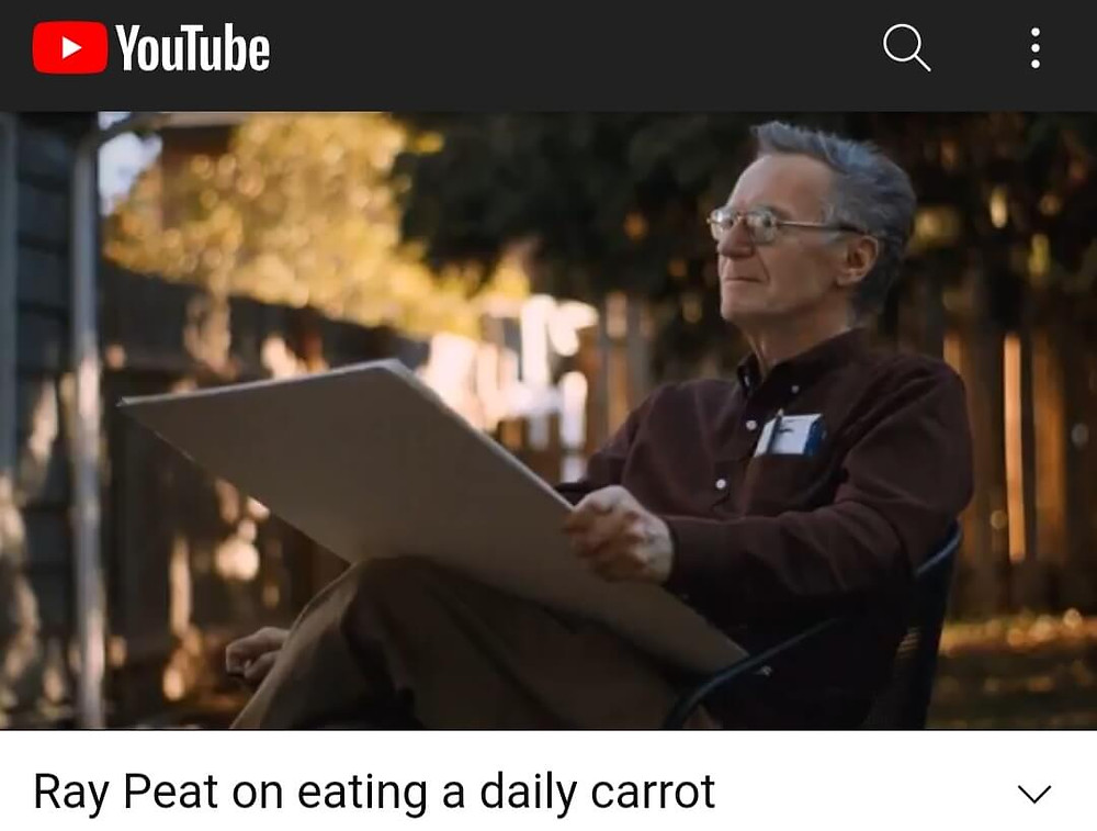 Ray Peat YouTube about the Daily Carrot