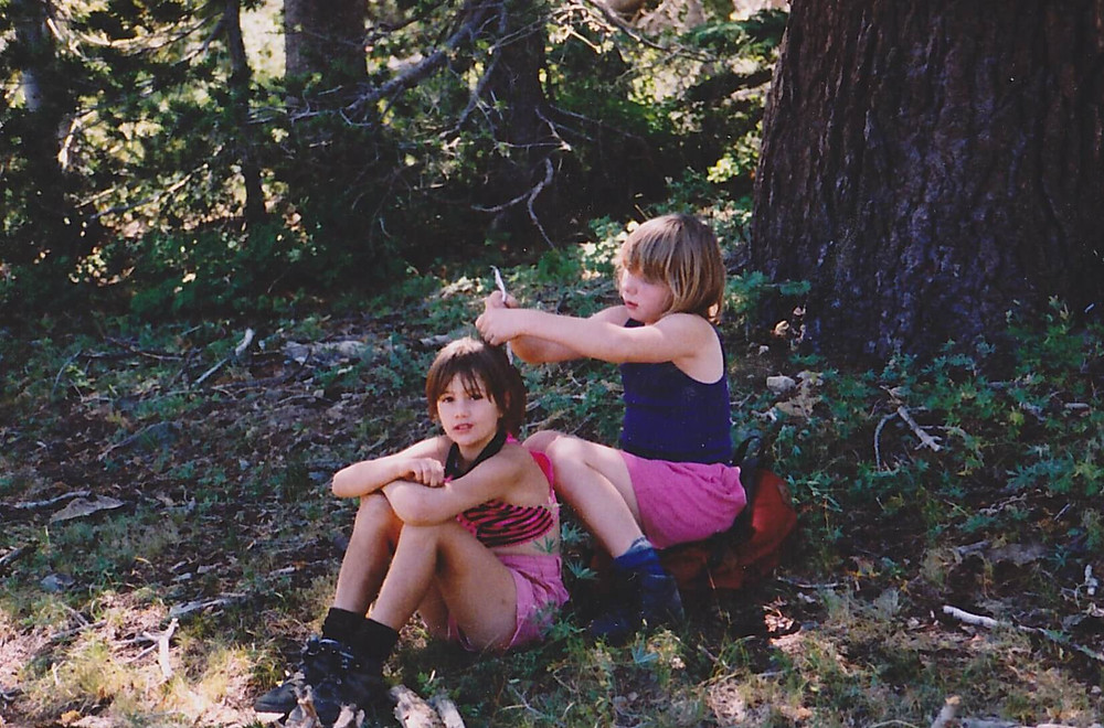 Babette and Sara backpacking