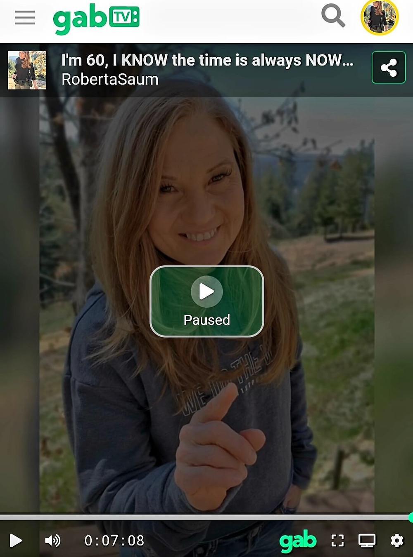 Roberta age 60 on Gab TV 2021