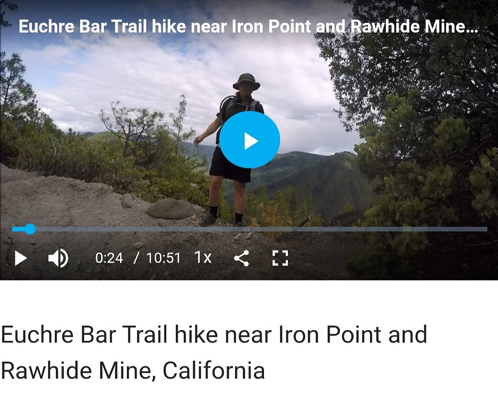 Euchre Bar hike video for Jenia