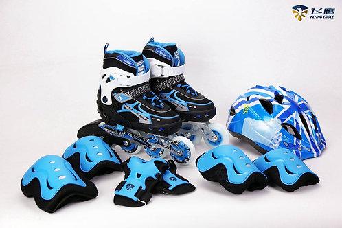 Kit Patines V5 Blue