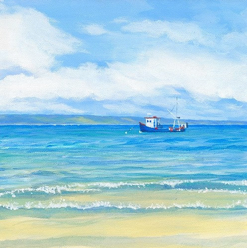 Tenby Beach with Boat